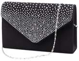 U-Story Women's Rhinestone Satin Frosted Evening Wedding Clutch Bag Handbag Purse