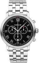 Montblanc 117048 Tradition Chronograph Date Bracelet Strap Watch, Silver/black