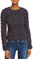 The Fifth Label Atlanta Ruffled-Sleeve Polka Dot Top