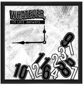 """PTM Images Whatever Clock - 20"""" x 20"""""""