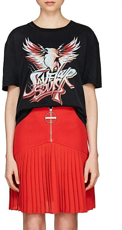 Givenchy Women's Graphic Distressed Cotton Jersey T-Shirt