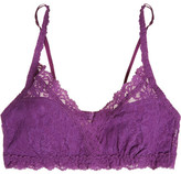 Hanky Panky Signature Valerie Stretch-lace Soft-cup Bra - Violet
