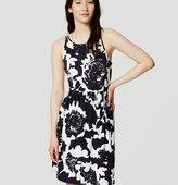LOFT Petite Monochrome Floral Dress