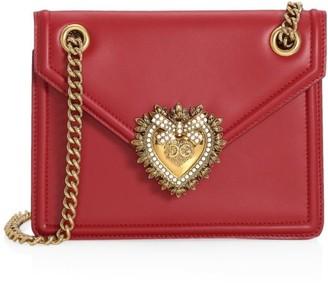 Dolce & Gabbana Small Devotion Leather Shoulder Bag