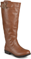 Journee Collection Chestnut Amia Wide-Calf Riding Boot