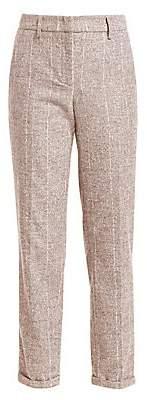 Fabiana Filippi Women's Assisi Maxi Pinstripe Alpaca-Blend Pants