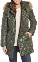 Andrew Marc Quilted Anorak with Genuine Coyote Fur