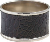 Asstd National Brand Set of 4 Black Crocodile Napkin Rings