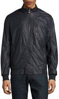 Calvin Klein Perforated Faux Leather Bomber Jacket