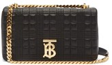 Burberry Lola Small Quilted-leather Shoulder Bag - Womens - Black