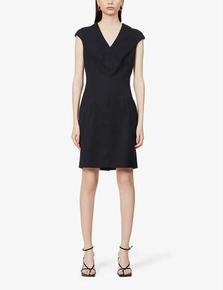 Reiss Hayes cap-sleeved crepe midi dress