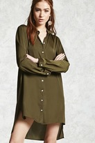 Forever 21 Satin Shirt Dress