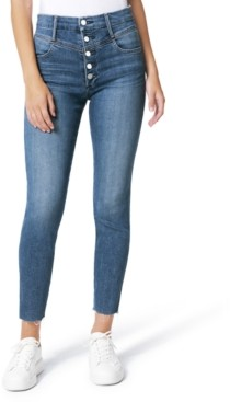 Joe's Jeans Hi Honey Button-Fly Frayed-Hem Jeans