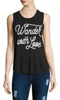 Spiritual Gangster Wander with Love Muscle Tank Top