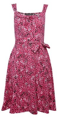 Dorothy Perkins Womens Pink Spot Print Fit And Flare Dress, Pink