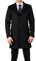 Luciano Barbera Men's Wool Cashmere 3/4 Length Coat Jacket