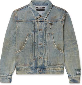 Reese Cooper Logo-Appliqued Distressed Denim Jacket - Men - Blue