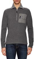 Michael Bastian Double Faced Half Zip Sweater