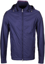 Paul & Shark Blue Nylon Hooded Slim Fit Jacket