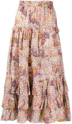 Ulla Johnson floral print A-line skirt