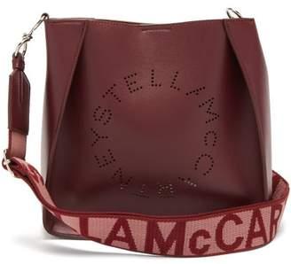 Stella McCartney Logo-strap Faux-leather Cross-body Bag - Womens - Burgundy