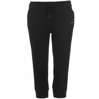 L.A. Gear Womens Ladies Three Quarter Interlock Pants Trousers Bottoms Clothing Black 18 (XXL)
