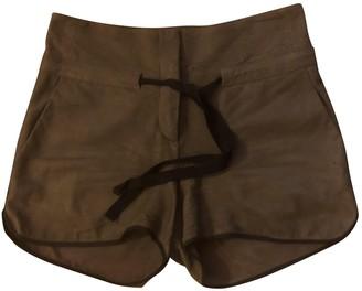 Isabel Benenato Leather Shorts for Women