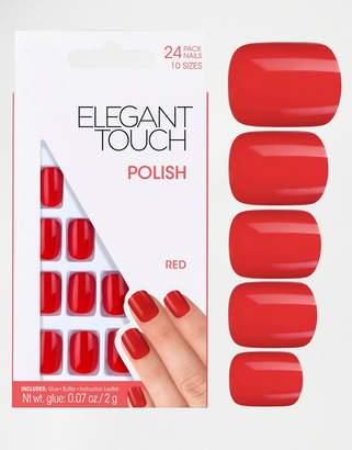 Elegant Touch Square False Nails-Red