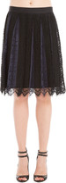 Max Studio Pleated Lace Skirt