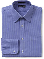 Classic Men's Tall Pattern No Iron Supima Pinpoint Straight Collar-Rich Pine Plaid