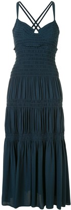 Proenza Schouler Bustier Smocked Dress