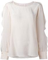 See by Chloe ruffle sleeved blouse - women - Silk - 38