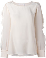 See by Chloe ruffle sleeved blouse - women - Silk - 42