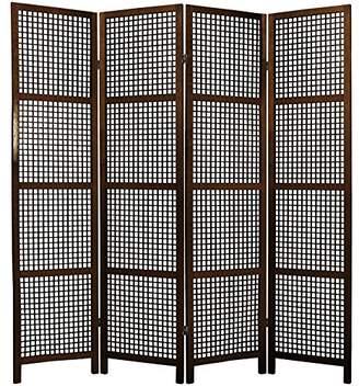 Oriental Furniture 6 ft. Tall Miyagi Shoji Screen - 4 Panel
