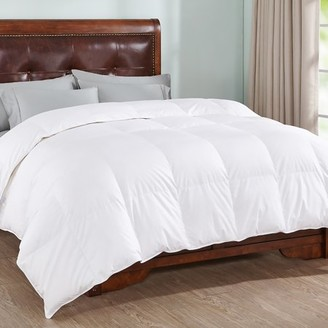Peace Nest White Goose Down Comforter with 100% Cotton and 600 Fill Power, King Size