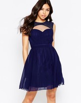 Little Mistress Skater Dress with Cut-Out Detail