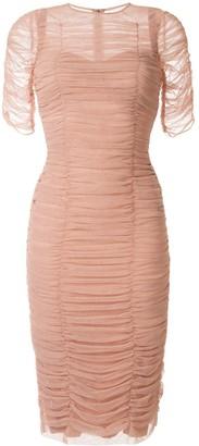 Dolce & Gabbana Stretch Tulle Bodycon Dress
