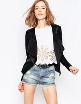 Only Waterfall Faux Suede Jacket