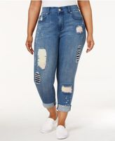 Melissa McCarthy Trendy Plus Size Ripped Passion Wash Skinny Jeans