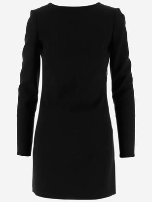 Saint Laurent Twisted Open Back Mini Dress