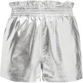 Topshop PU Paper Bag Shorts