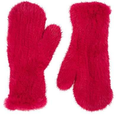 0097117bd Pink Fur Gloves - ShopStyle