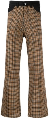 Our Legacy Denim-Yoke Houndstooth Trousers