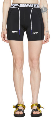 Off-White Black Jersey Active Shorts