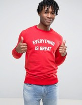 Pull&Bear Sweatshirt With Slogan In Red