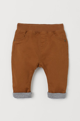 H&M Jersey-lined Twill Pants