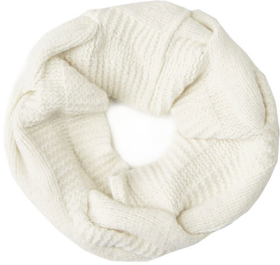 Rag and Bone Felted Cable Circle Scarf - Ivory