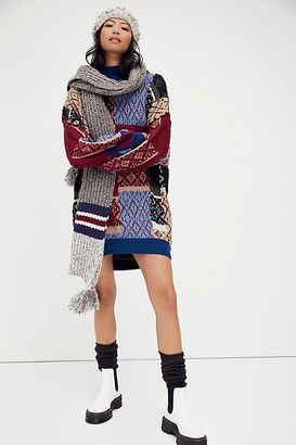 Free People Patched Argyle Dress