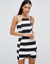 AX Paris Striped Textured Mini Dress