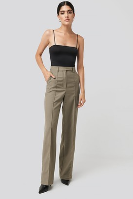 NA-KD Creased Wide Leg Suit Pants